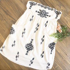 Express | Aztec Swim Cover Tunic Mini Dress
